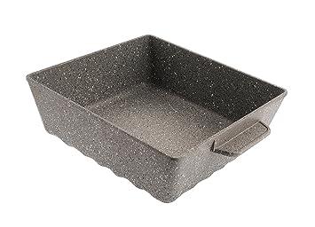 Mopita RIDL25MO101 - Molde para horno (aluminio fundido, 25 x 25 cm), color gris: Amazon.es: Hogar