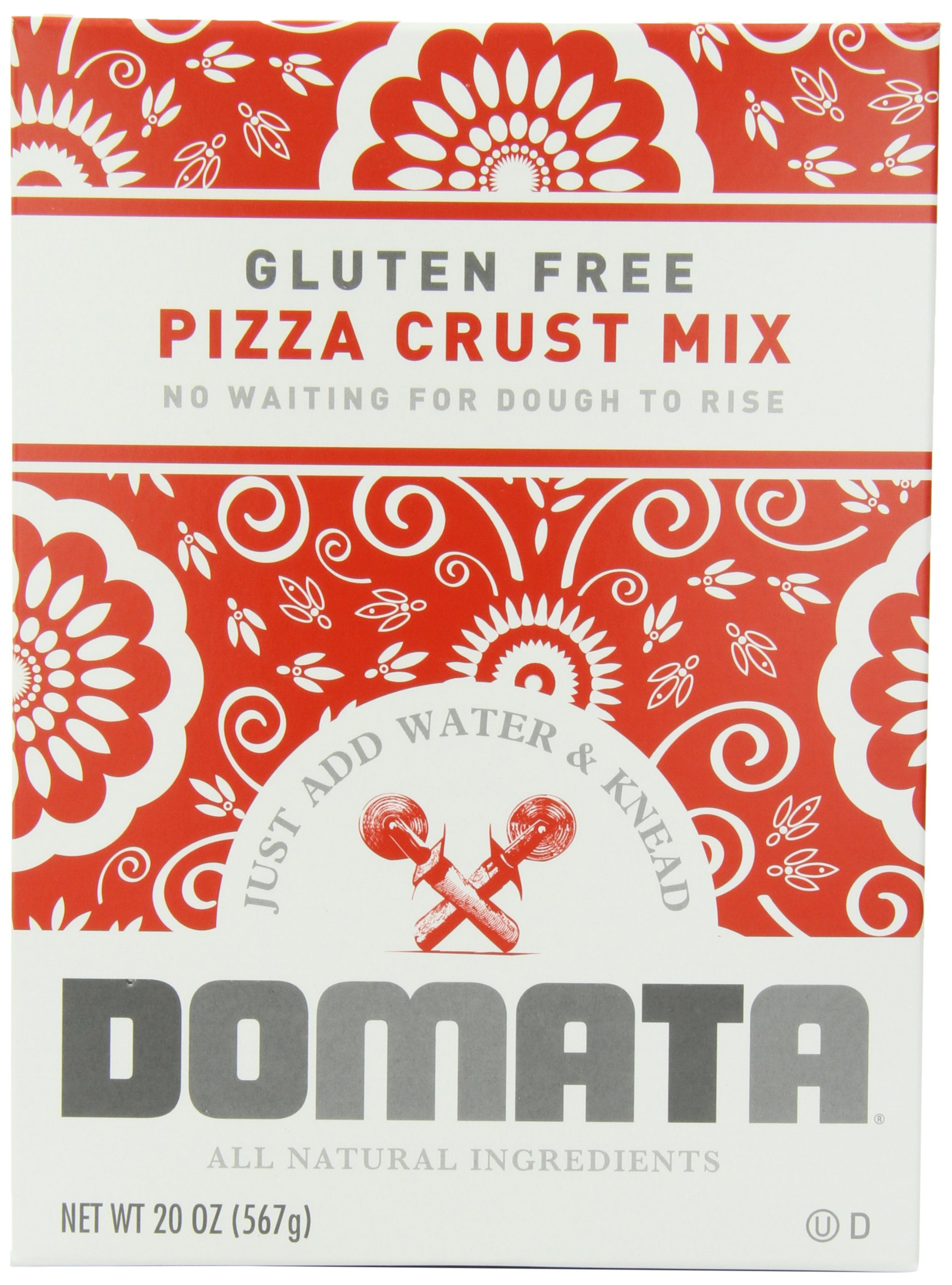 Domata Pizza Crust Mix, 20 Ounce (Pack of 6) by Domata