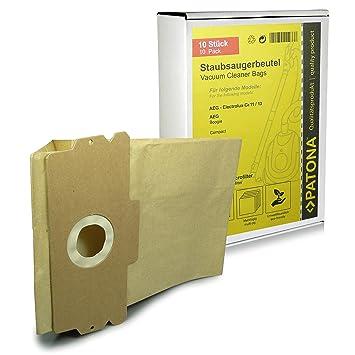 10x Bolsas de aspiradora papel para AEG Dimensión / Type 11 13 - Boogie 1100 | Vampyr 400 - 499, 1100, 1200, Compact de luxe, Compact electronic (=> ...