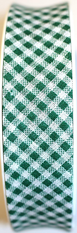 Nastro sbieco di Cotone Percalle Verde Inastri
