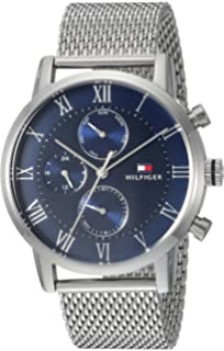Tommy Hilfiger Mens Sophisticated Sport Quartz Stainless Steel Casual Watch, Color:Silver