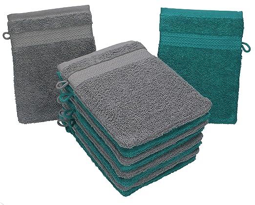 BETZ Paquete de 10 Piezas de Manoplas de baño Guantes para lavarse ...