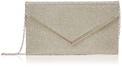 70344db83ff6e Quiz Womens Diamante Envelope Bag Clutch Silver (Silver)  Amazon.co ...