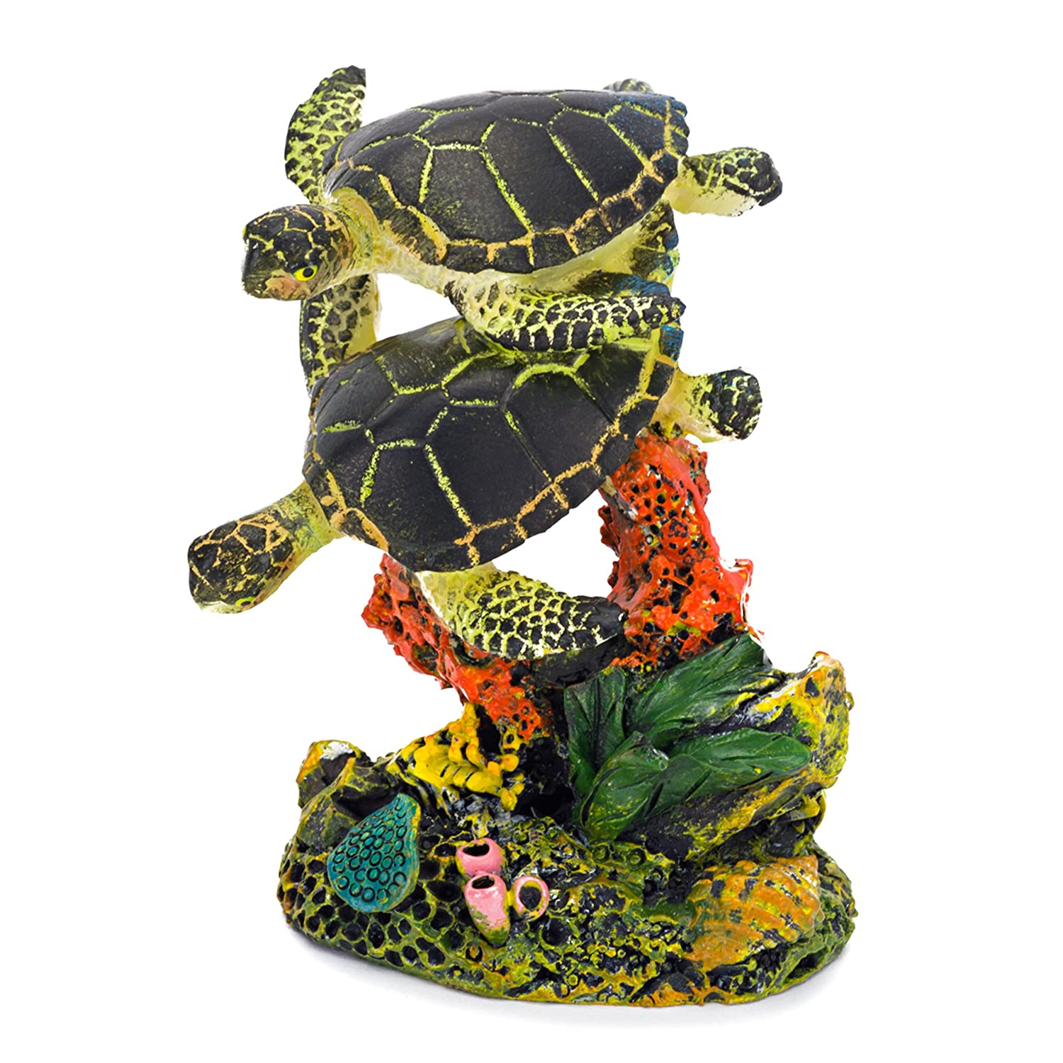 Turtle Tank Decor Amazoncom Penn Plax Swimming Sea Turtle Aquarium Decor Small