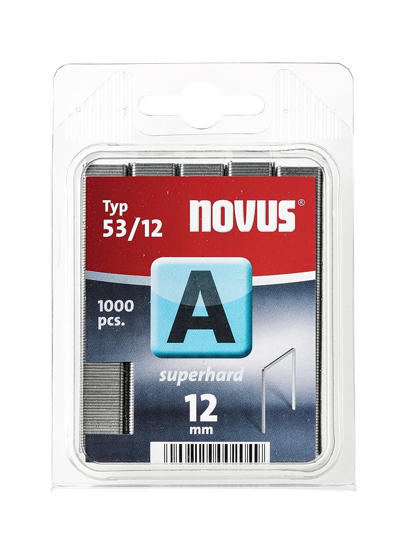 Novus A 53 agrafes à fil plat 6 mm, lot économqiue, carton de 5000 agrafes du type 53/6, agrafes en fil acier lot économqiue 042-0516
