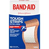 Band-Aid Brand Tough-Strips Adhesive Bandages, Durable Protection for Minor Cuts and Scrapes, Extra Large, 10 Count