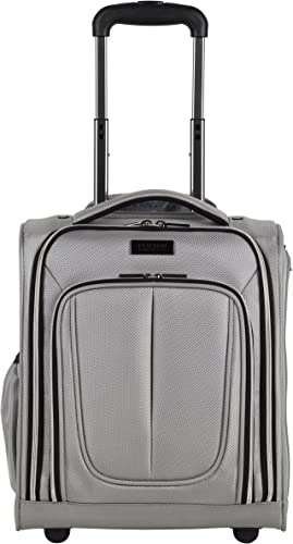 Kenneth Cole Reaction Lincoln Square 16 1680d Polyester 2-Wheel Underseater Carry-on, Light Silver