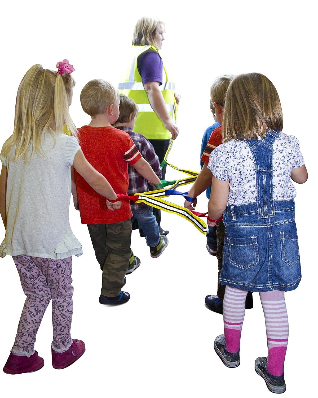 Grab & Go (para 4 niños) - Arnés de Seguridad, Cuerda De Caminatas Infantil. Calidad premium. Diseñada por una Profesora. Función de seguridad adicional en ...