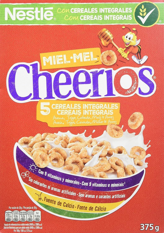 Cheerios Cereales con Avena Integral Tostados y Miel 3 Paquetes de 375 g