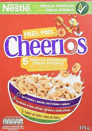 Cheerios - Cereales con Avena Integral Tostados y Miel - 3 Paquetes de 375 g