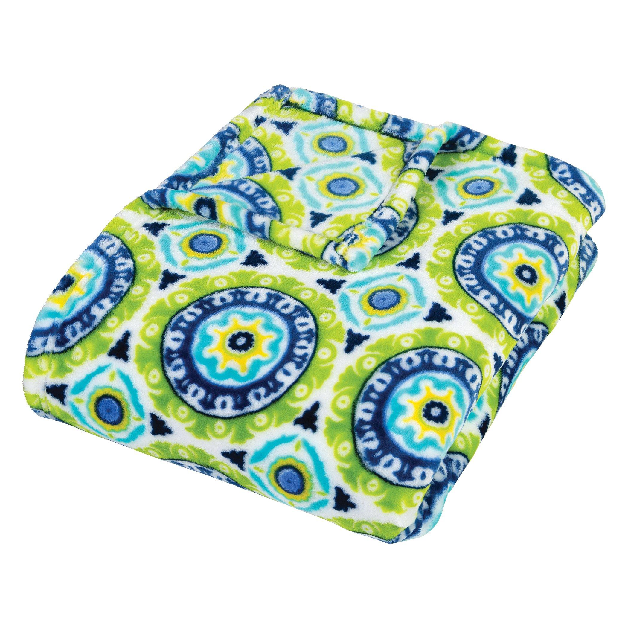 Trend Lab Plush Multi Waverly Throw Blanket, Solar Flair