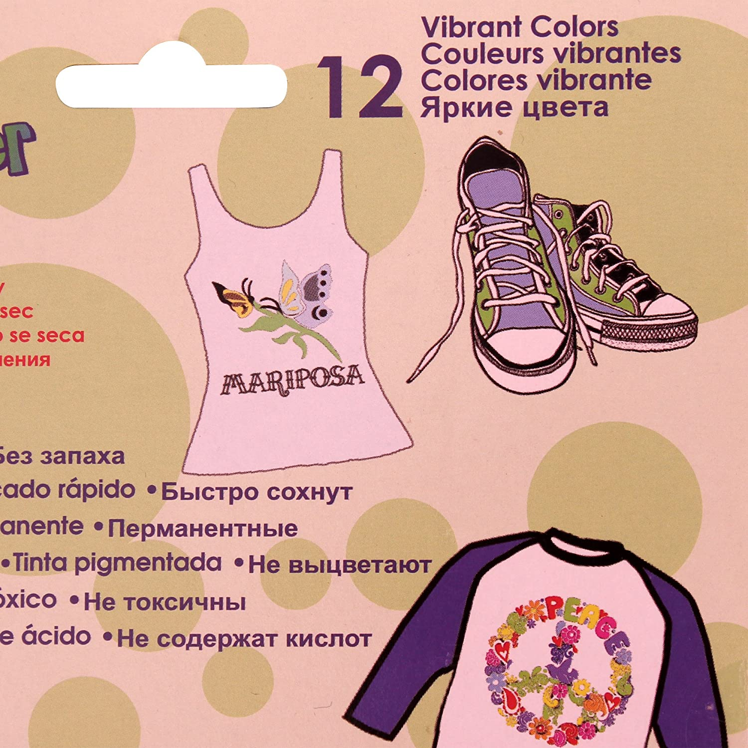 Amazon.com: Uchida Marvy Permanent Fabric Marker Clothing, Decor 6/10/12 Colors (Primary - 10 Colors)