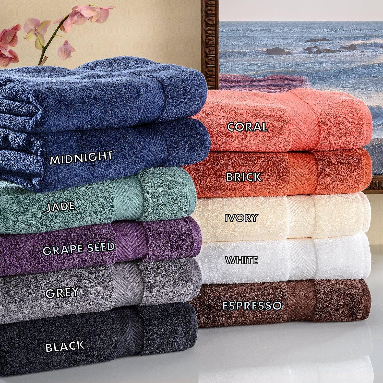 Set of 2 Set Superior Zero Twist 100/% Cotton Towels Super Soft Fluffy Premium Quality Oversized Bath Sheet and Absorbent Grey Luxor Treasures ZT BSHEET GR