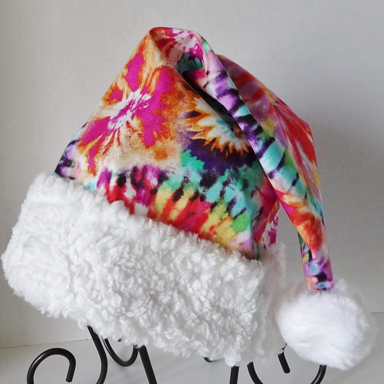 59f055597e216 Amazon.com  Tie Dye Santa Hat