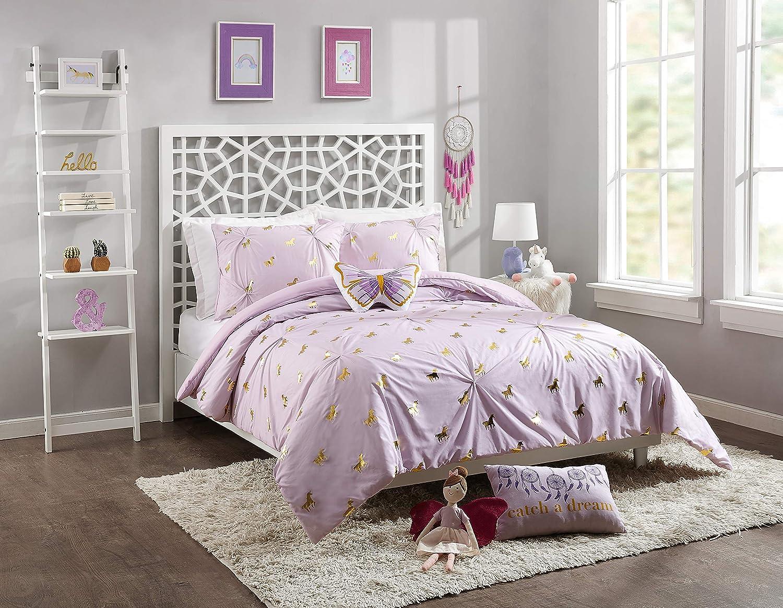 Jessica Simpson Fiona Unicorn Comforter Set, Full Queen, Purple
