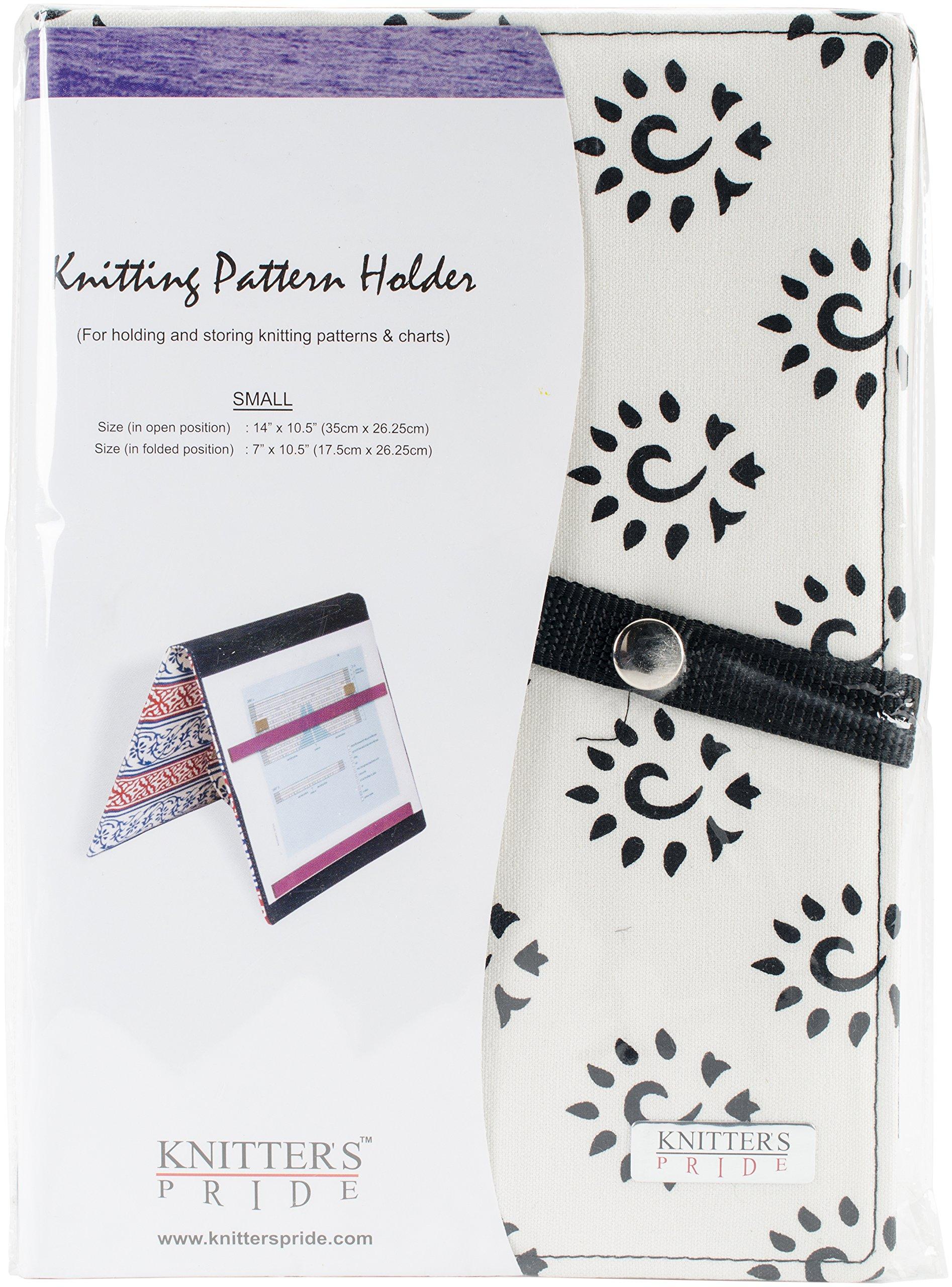 Knitter's Pride KP800354 Fold-Up Knitting Pattern Holder 7''X10.5''-Amber Black Small
