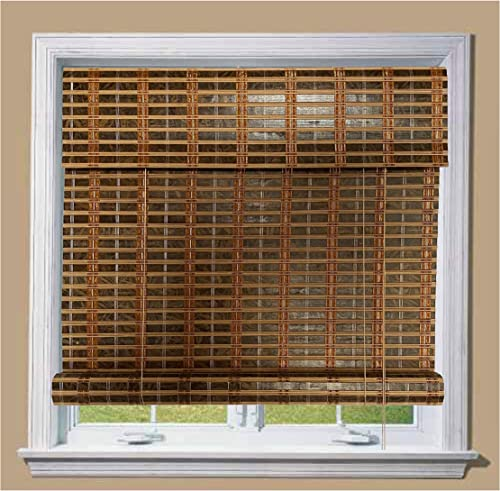 THY COLLECTIBLE Bamboo Roll Up Window Blind Sun Shade