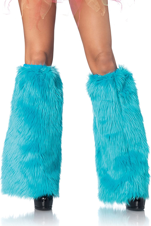 Leg Avenue Womens Furry Leg Warmers