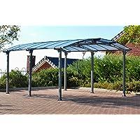 Palram Arcadia 5000 Carport gris – robusta estructura para uso durante todo el año