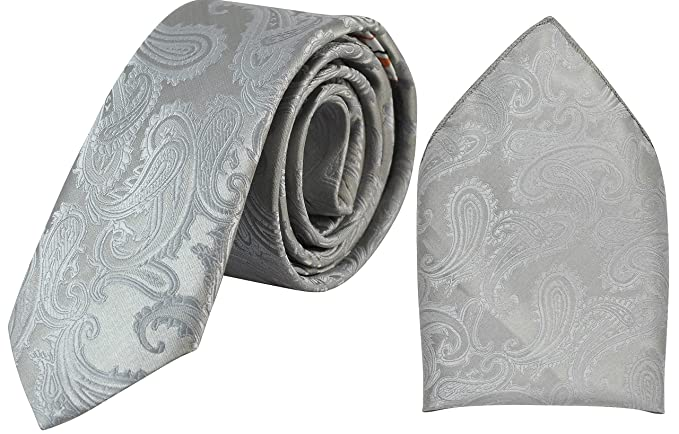 1c299726a1108 Image Unavailable. Image not available for. Colour: Ammvi Creations Men's Microfiber  Paisley Pattern Tie Pocket Square ...