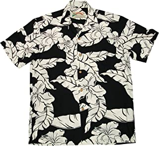 product image for Paradise Found Mens Hibiscus Pareau Shirt Black M