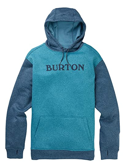 509df5c65 Burton Men's Oak Pullover Hoodie, Blue Curaçao Heather/Storm Blue Heather,  XX-