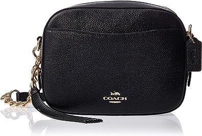 Coach caméra noir galets sac bandoulière en cuir Black