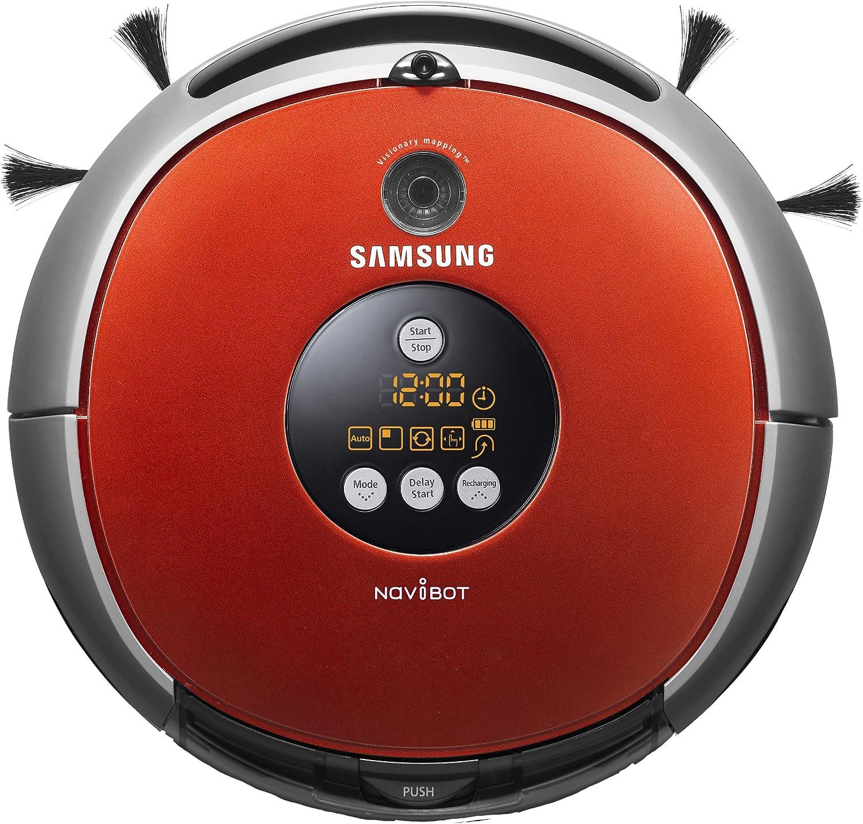 Samsung SR8825 - aspiradoras robotizadas (Rojo, Plata, Bagless, 300 mm/seg, 92%, 70 Db, Níquel-Hidruro metálico (NiMH)): Amazon.es: Hogar