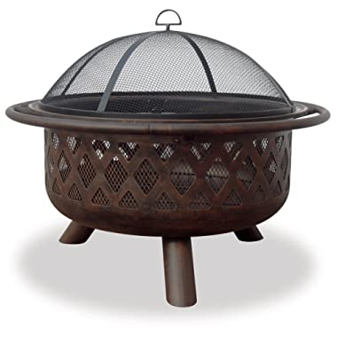 Uniflame Endless Summer, WAD792SP, Bronze Crossweave Firebowl Fire Pit Outdoor Firepit