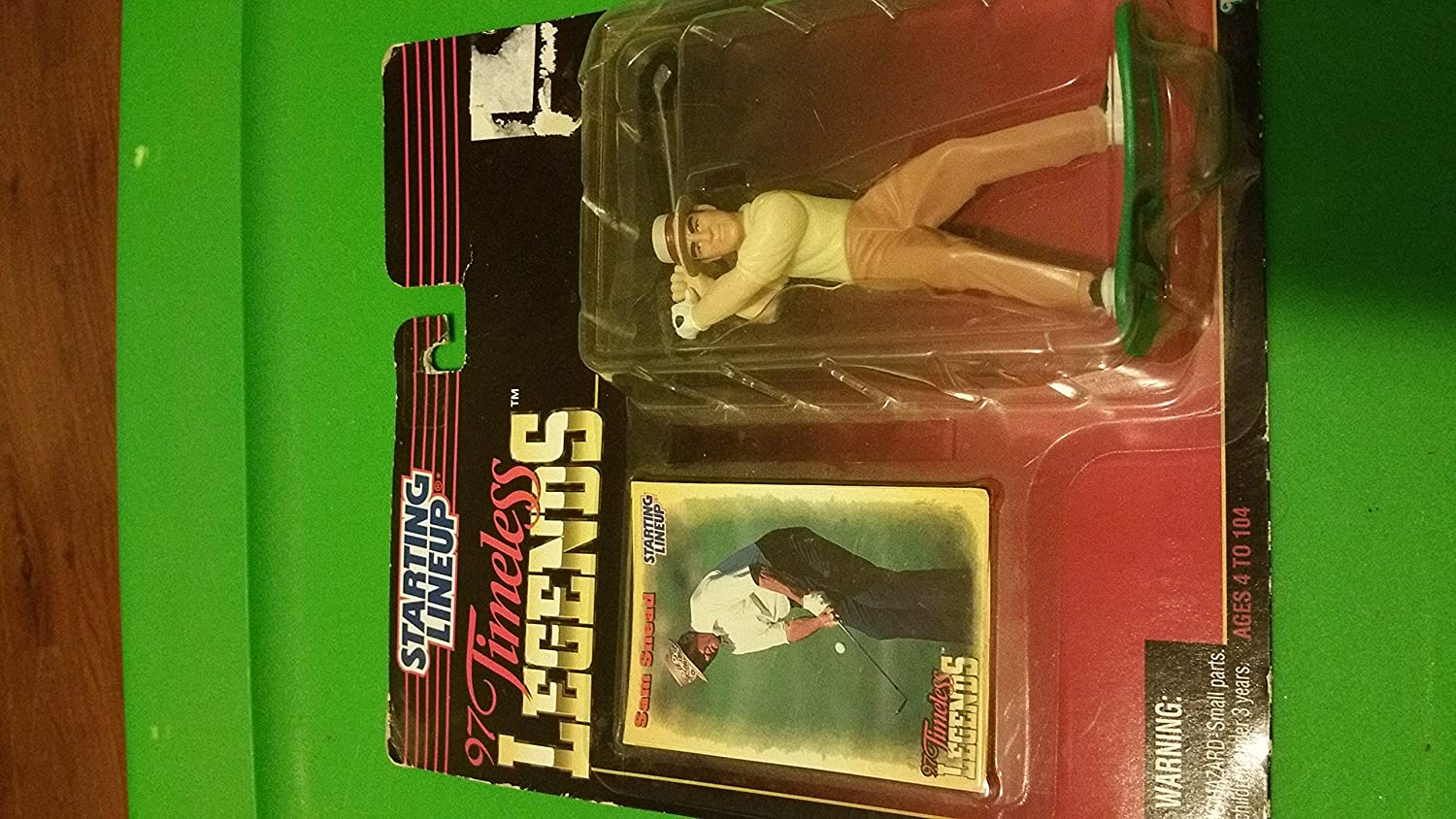 SAM SNEAD / PGA 1997 TIMELESS LEGENDS Kenner Starting Lineup & Exclusive Collector Trading Card by Kenner