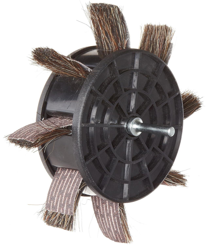 Round Shank Pack of 1 Grit 80 Aluminum Oxide Merit 350-RP Sand-O-Flex Abrasive Wheel 6-1//2 Diameter x 1 Width