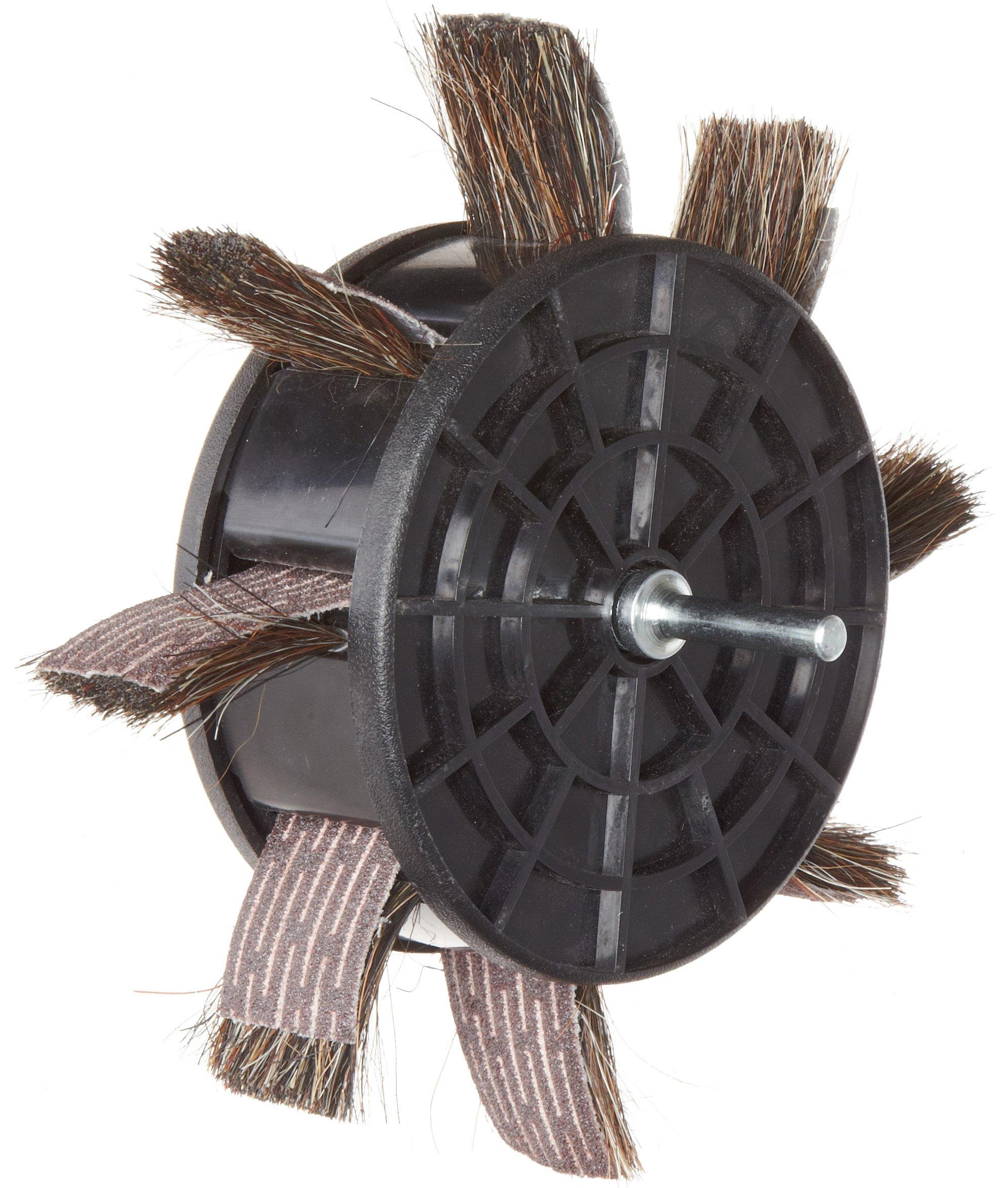 Merit 350-RP Sand-O-Flex Abrasive Wheel, Round Shank, Aluminum Oxide, 6-1/2'' Diameter x 1'' Width, Grit 80 (Pack of 1)