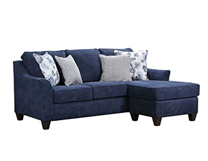 Simmons Upholstery 4330-03SC Prelude Navy Sofa Chaise