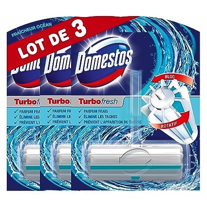 Domestos - Desinfectante de WC Turbo Fresh frescor alpino - Lote de 3
