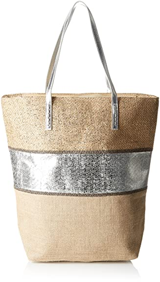 Cabas Et Argent, Womens Top-Handle Bag, Silver, 15.5x43x45.5 cm (W x H L) Molly Bracken