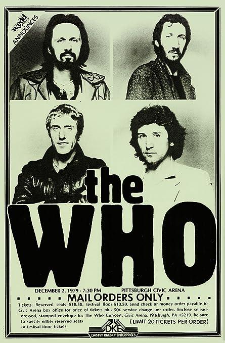 Amazon com: The Who Concert Retro Art Print - Poster Size