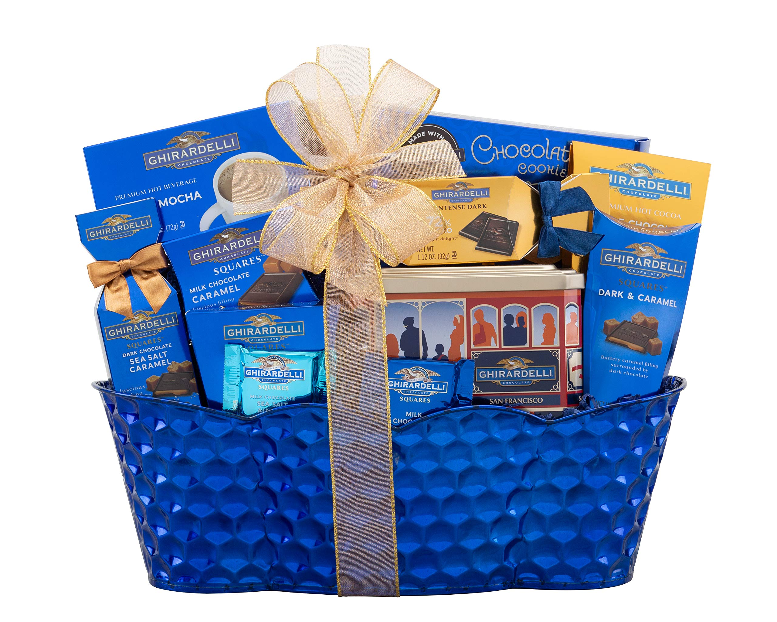 Wine Country Gift Baskets Ghirardelli Gift Basket Christmas Chocolate Gift Basket. Edible Arrangements Delivered. Perfect As A Corporate Gift Thank You Gift, Appreciation Gift Basket, Family Gift by Wine Country Gift Baskets