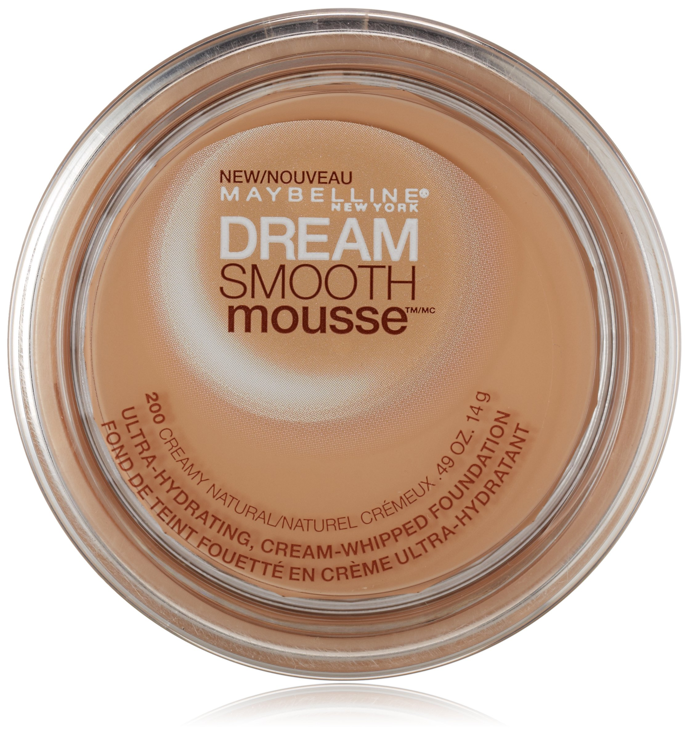 Maybelline New York Dream Smooth Mousse Foundation, Creamy Natural, 0.49 Ounce