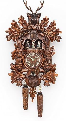 Trenkle Quartz Cuckoo Clock Hunting Clock, with Music, Turning Dancers TU 378 QMT HZZG