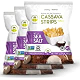 Artisan Tropic Cassava Strips, Sea Salt, Cooked in Sustainable Palm Oil, Paleo Certified, 1.75 Oz, (3 Pack)