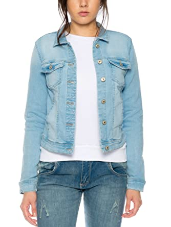 ONLY Damen Denim Jacket Jeansjacke Damenjacke Hellblau  Amazon.de ... 85603cb81d
