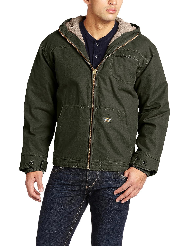 Dickies Mens Sanded Duck Sherpa Lined Hooded Jacket Dickies Men/'s Sportswear TJ350R