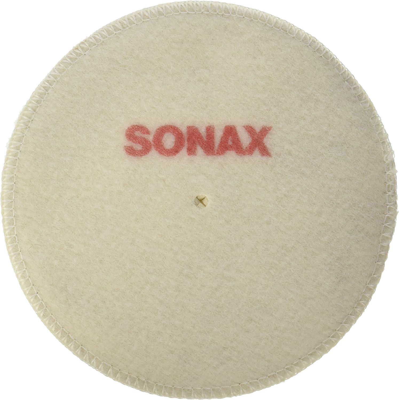 Sonax 493141 544 Lammwolle Pad 130 Für Maschinen Polieren Fahrzeuglack Auto