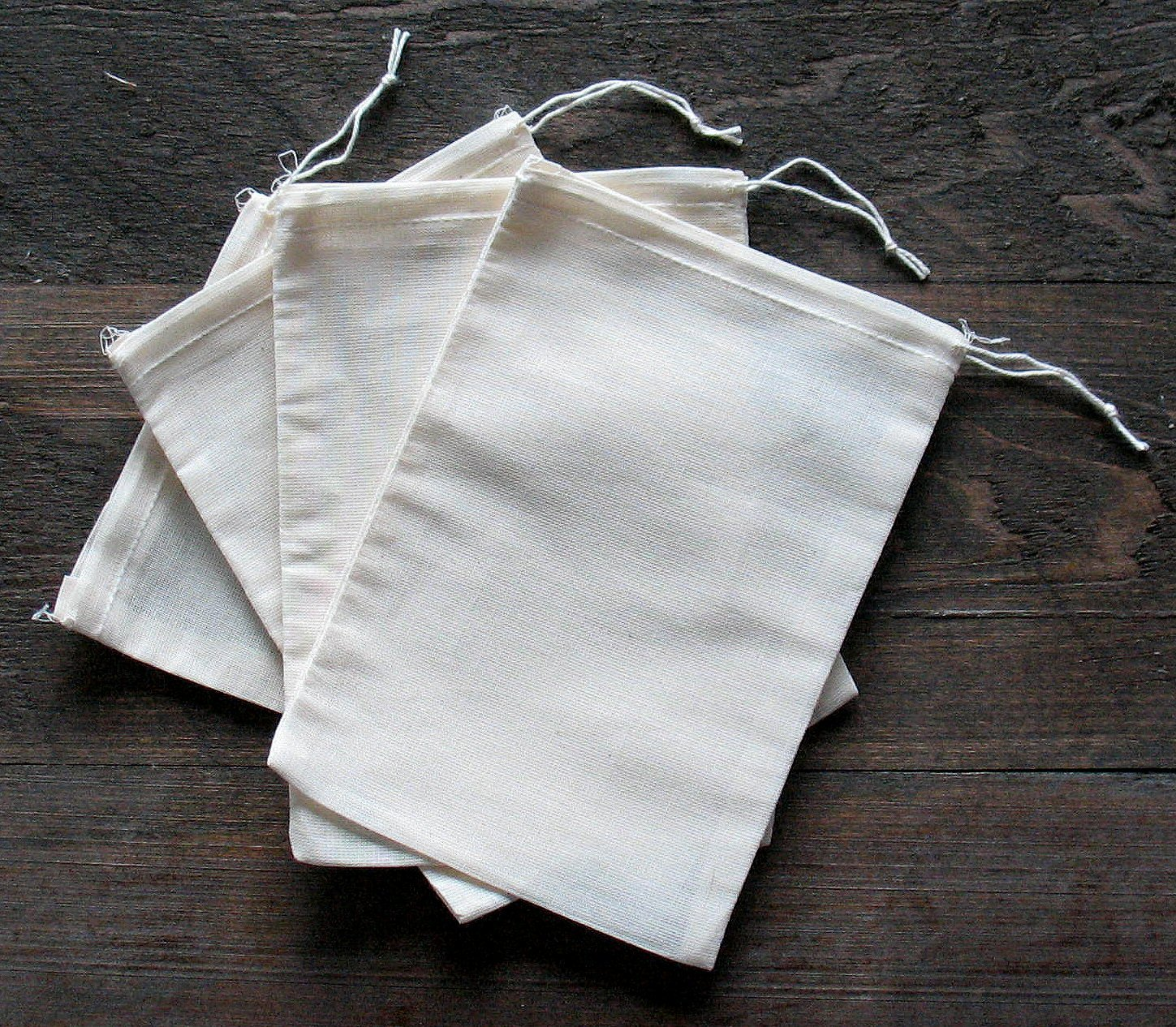 Amazon.com: Cotton Muslin Bags 5x7 Inches 25 Count Pack: Health ...