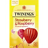 Twinings Raspberry & Strawberry 20 Tea Bags (Pack of 4, total 80 Tea Bags)