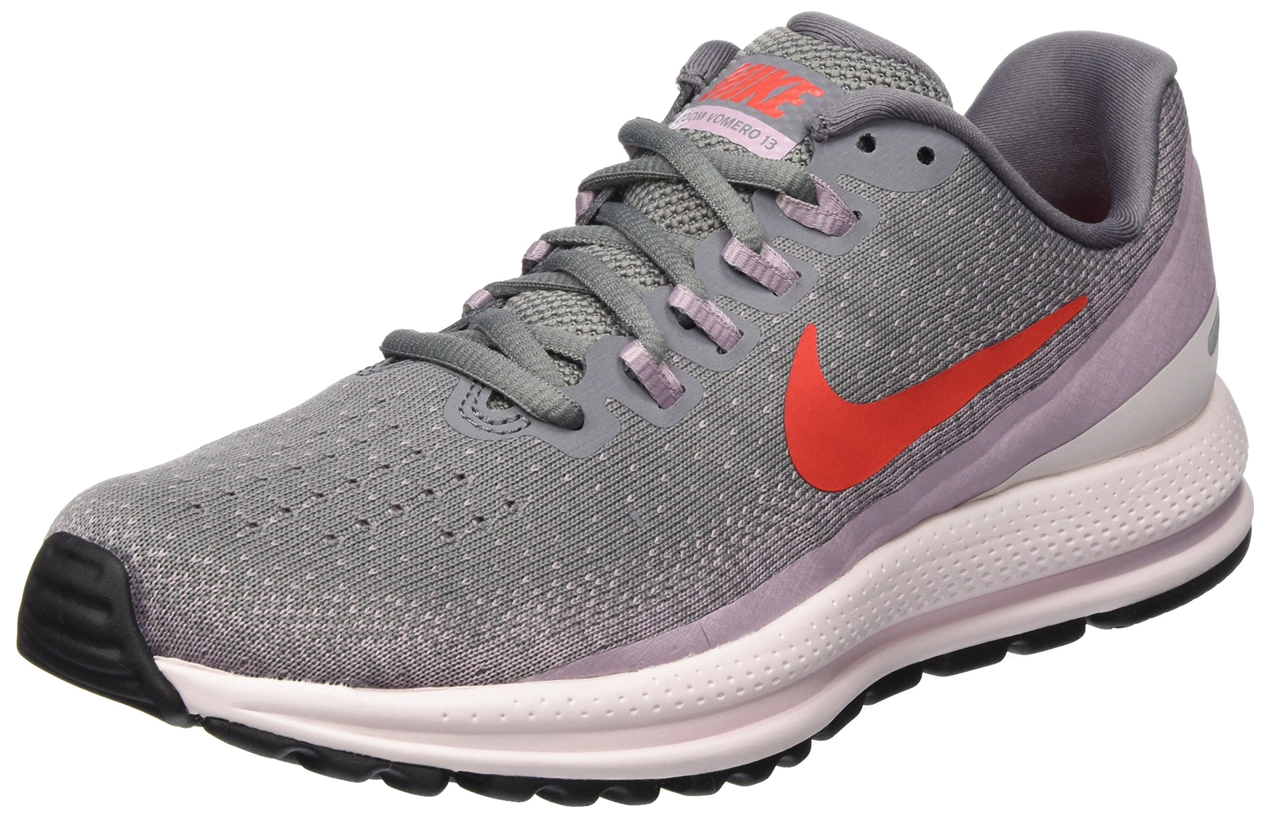 Nike Women's Air Zoom Vomero 13 Running Shoe Gunsmoke/Habanero RED-Elemental Rose 6.0