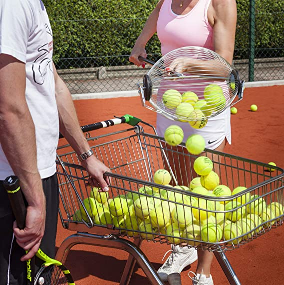 Amazon.com : Kollectaball CS40 40 Ball Collector Mini | Ball Picker Upper for Tennis, Pickleball, Padel and More | Holds 40 Tennis Balls or Pickleball Balls ...