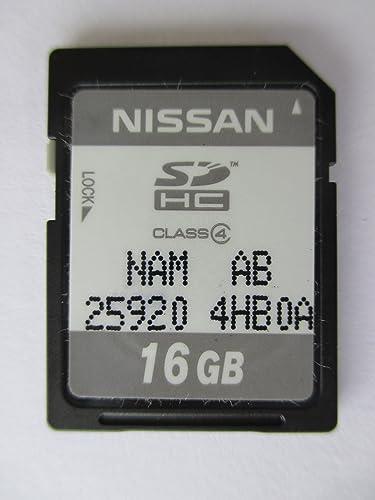 4HB0A 2014 2015 INFINITY Q50 SD NAVIGATION CARD , OEM PART NISSAN NAN AB 25920-4HB0A SDHC 16 GB