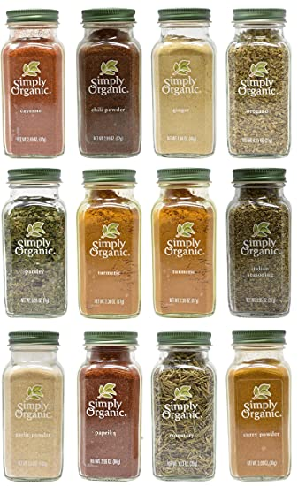 Valentines Day Simply Organic Herbs and Spice Variety Gift Set - Pack of 12 - Garlic