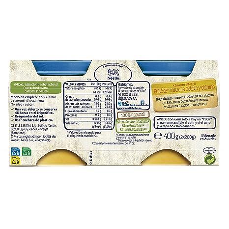 NESTLÉ SELECCIÓN tarrito de puré de fruta, variedad Manzana Golden y Plátano, para bebés a partir de 4 meses -: Amazon.es: Amazon Pantry